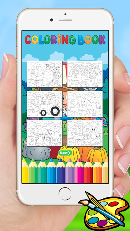Farm & Animals coloring book - drawing free game for kids screenshot-4