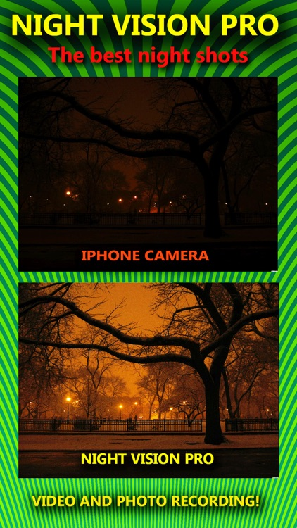Night Vision True HDR - See In The Dark (NightVision Real In Low Light Mode) Green Goggles Binoculars with Camera Zoom Magnify (Video, Photo) and Private / Secret Folder Pro screenshot-4
