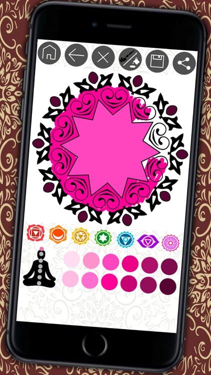 Mandalas coloring book – Secret Garden colorfy game for adults screenshot-3