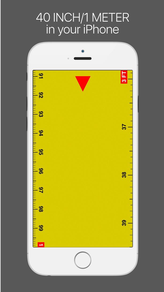 Ruler lite - tape measure length Screenshot