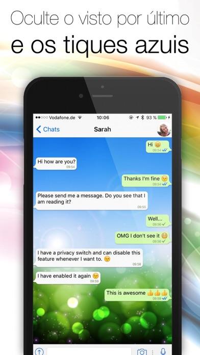 Screenshot for Espião para WhatsApp - Oculte o visto por último e os tiques azuis in Brazil App Store