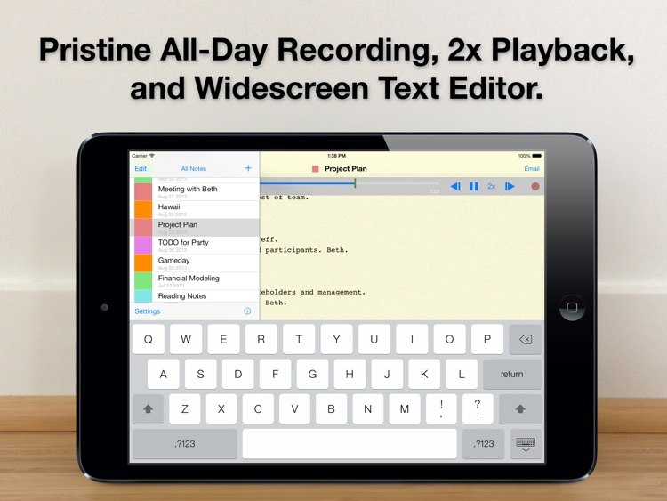 Audio Notebook: Sound Recorder screenshot-0