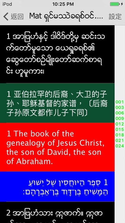 緬甸語聖經 Burmese Audio bible screenshot-0