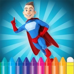 Cartoon Superhero Coloring Book - Drawing for kid free game