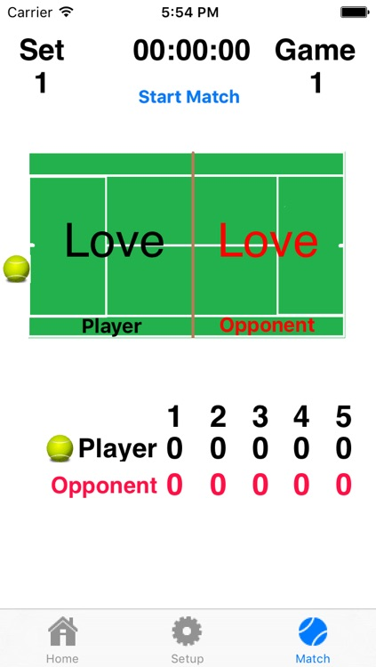 Tennis Score Addict - Keep Score And Hear The Score Without Picking Up Your Device! screenshot-0