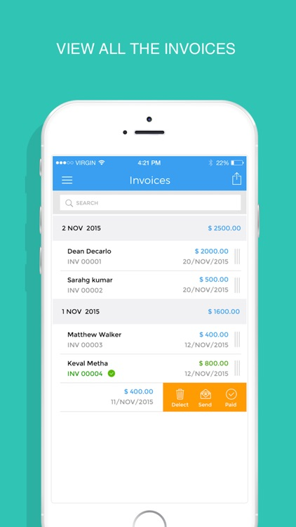InvoiceMaker - Simple invoice maker to send PDF invoices & estimates for free screenshot-3