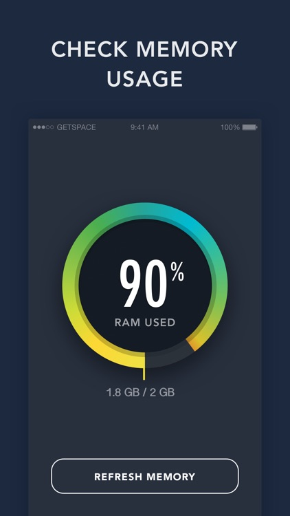 RAM Monitor by GetSpace - check iPhone memory status and system activity