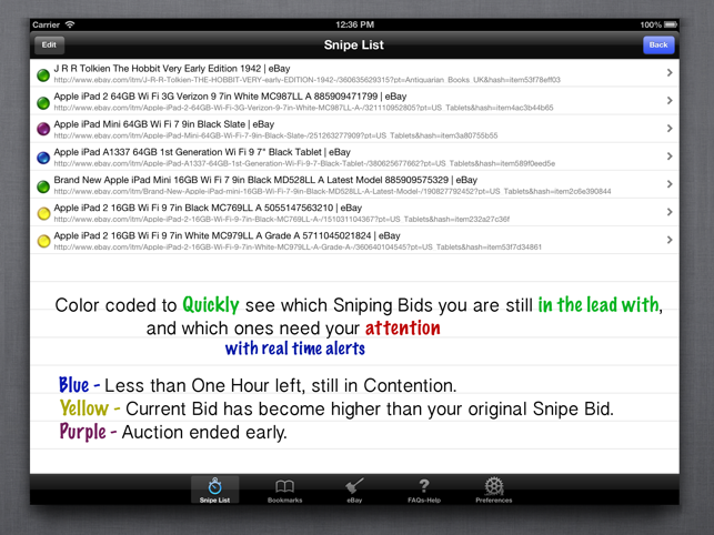 Auction Sniper For Ebay On The App Store