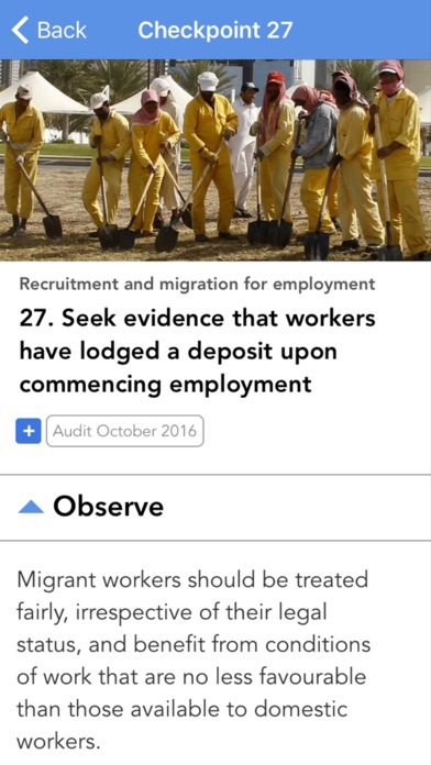 Eliminating and Preventing Forced Labour: Checkpoints screenshot three