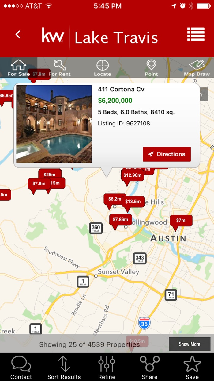 Keller Williams Realty Real Estate Search Screenshot