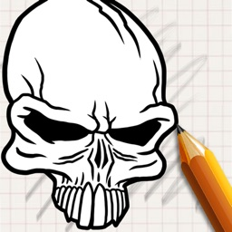 Let's Draw Tattoo Skulls
