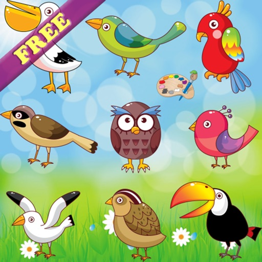 Coloring Book For Toddlers: Birds ! FREE Coloring Pages And Pictures By  Stefano Frassi