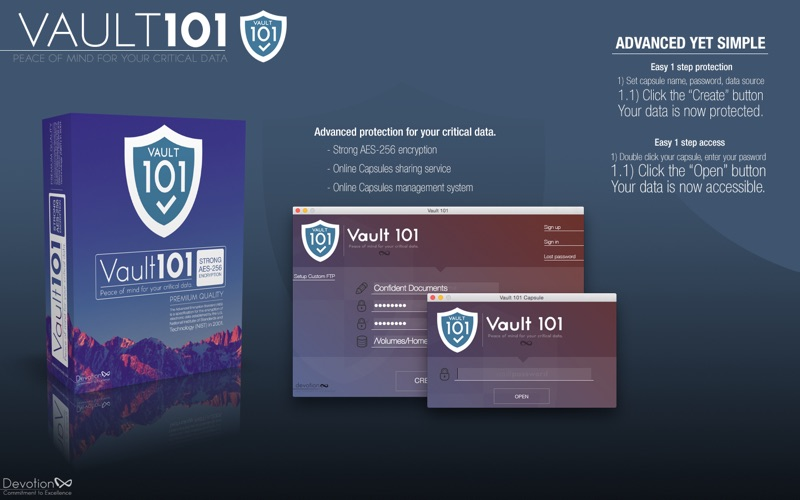 Vault 101 - password protect files and folders