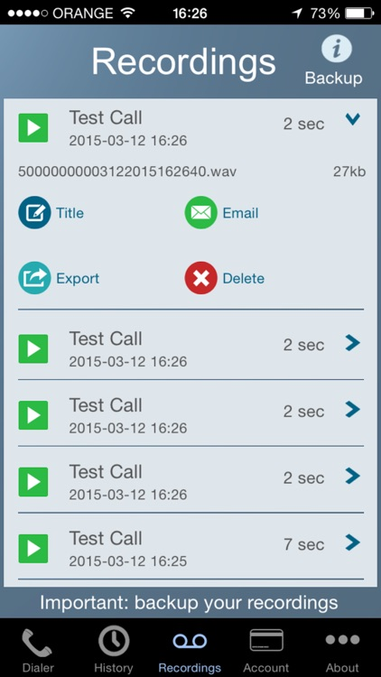Call Recorder - IntCall app image
