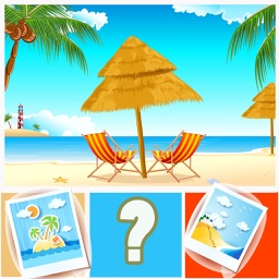 Guess the Word Quiz Guessing Beach Seaside Lovers
