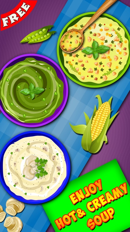 Soup Maker : free Girls Kids fun Cooking game for pizza,burger & sandwich lovers screenshot-4