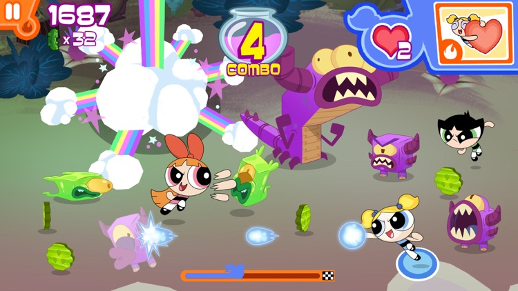 Flipped Out – The Powerpuff Girls Match 3 Puzzle / Fighting Action Game screenshot-3