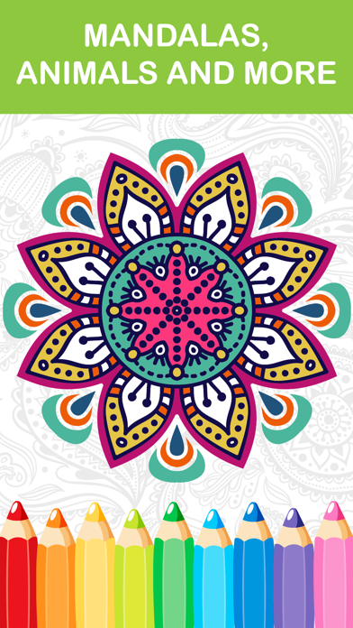 mandala coloring book - adult colors therapy free stress