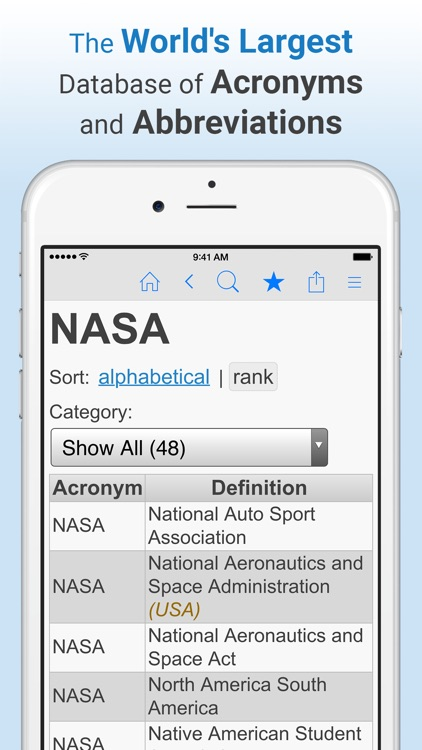 Acronym Finder - Acronyms, Abbreviations, Initialisms, and more screenshot-0
