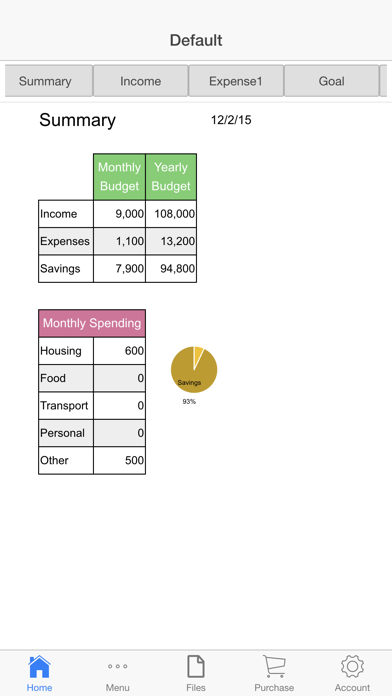 Monthly Budget App Screenshots