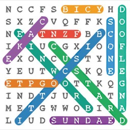 Word Search Colorful Puzzle