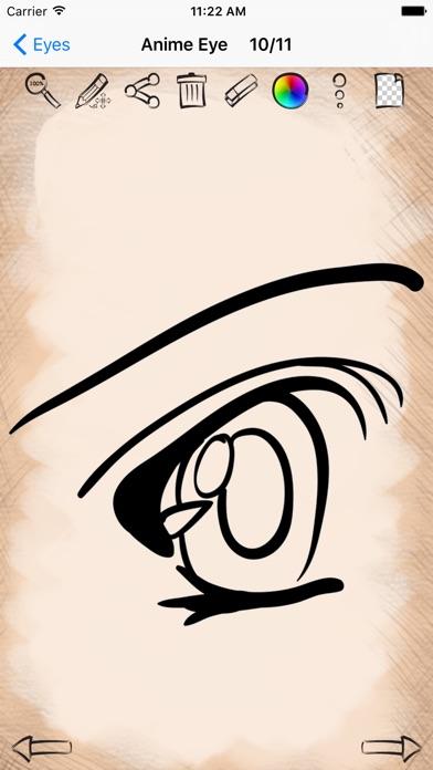 Easy Draw Anime Manga Eyes Ios Application Version 1 0 Iosappsgames