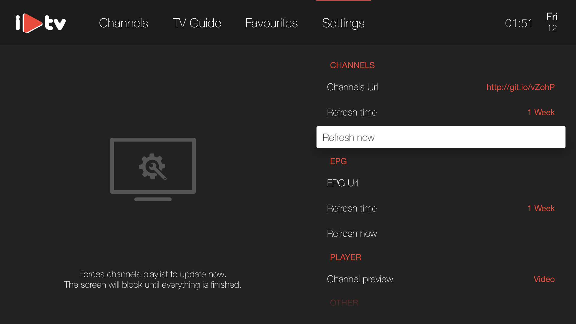 iPlayTV  -  IPTV/M3U Player screenshot 5