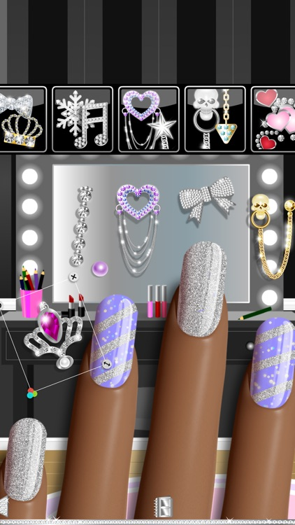 Nail Polish Pro Nail Art Designer Game Featuring Sparkling Holo Gel