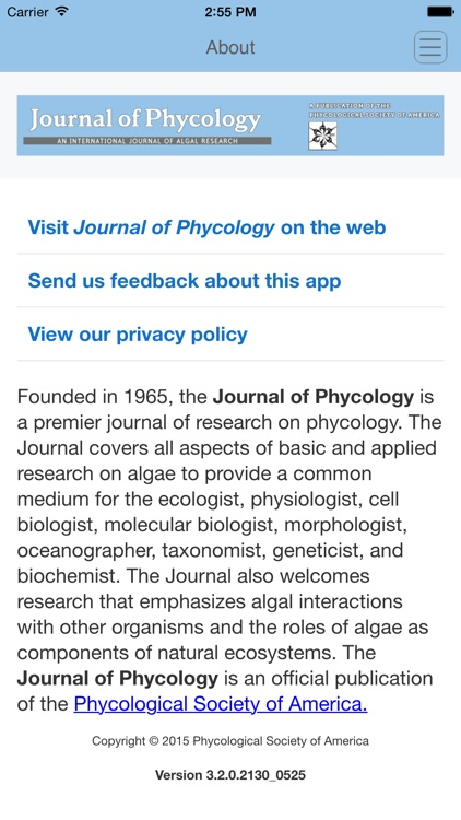 Journal of Phycology screenshot-3