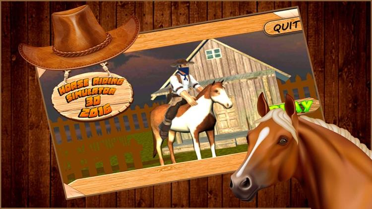 Horse riding simulator 3d 2016 screenshot-4