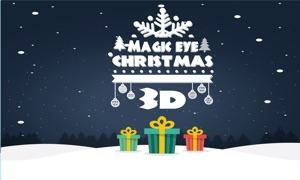 Christmas Magic Eye 3D