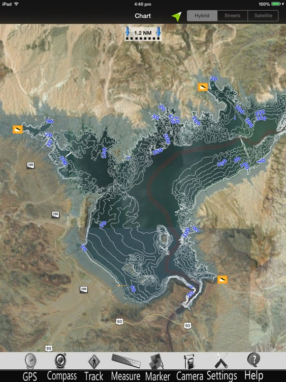 Lake Mead Nautical Charts Pro
