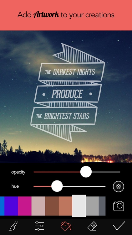 Overphoto Typography Photo Editor - Write captions, add quotes & create font effects screenshot-3
