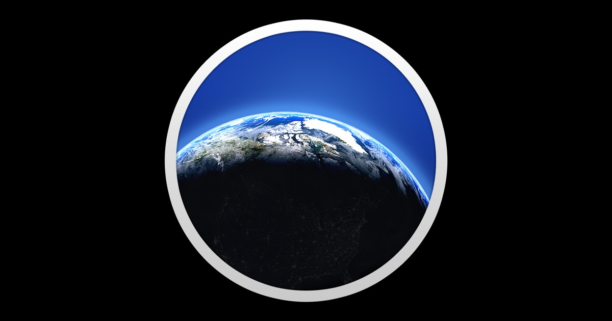 living earth desktop weather world clock on the mac