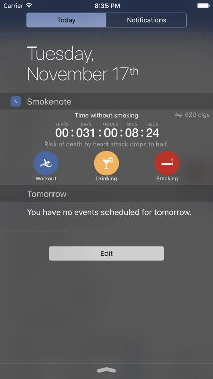 Smokenote PRO - Quit Smoking screenshot-3