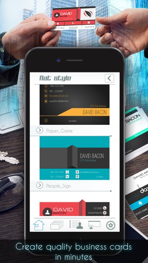 Business card creator pro on the app store screenshots reheart Choice Image