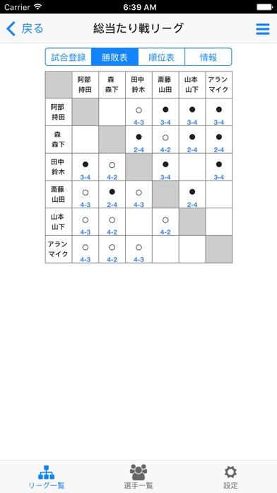 ソフトテニスリーグ作成のスクリーンショット1