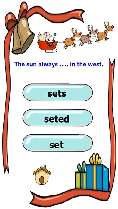 檢查語法在使用基本的英語時態練習比賽屏幕截圖3
