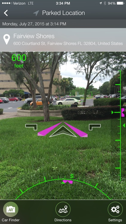 Find My Car - Automated Parking with Augmented Reality