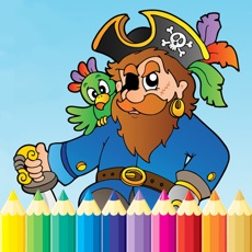 Activities of Pirate Coloring Book - Sea Drawing for Kids Free Games