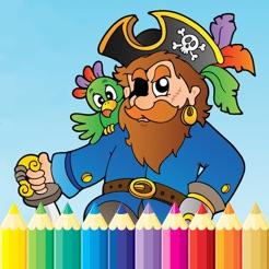 Pirata Para Colorear Libro Dibujo Del Mar Para Niños Juegos Gratis