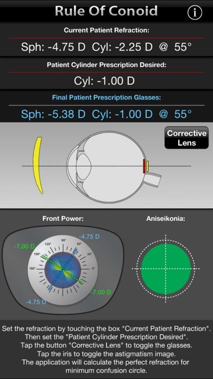 "Rule Of Conoid - Simulate the ""circle of least confusion"" on prescription eyeglasses. screenshot-3"