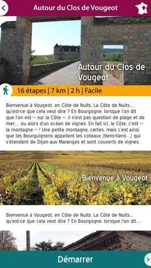 Direction artistique pour l'application Balades en Bourgogne
