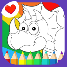 Activities of Cute Dino Coloring - Drawing Painting Graffiti Dino Picture Book