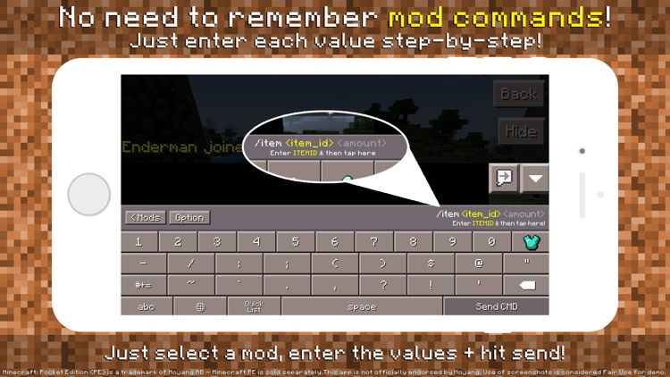 PE Mods - Custom Keyboard for Minecraft Pocket Edition screenshot-2