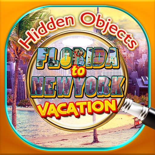 Florida to New York Vacation Travel - Hidden Object Spot and Find Objects Differences Photo Game