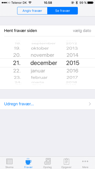 mobilskema til Elevplan Screenshot