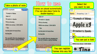 Handwriting note to Shopping list - Note2List screenshot two