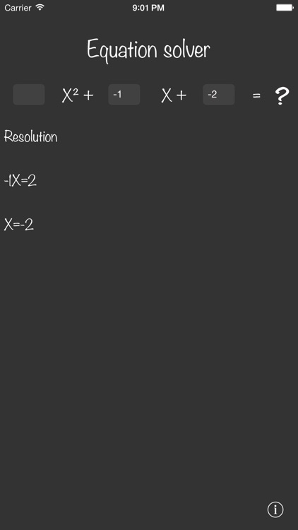 Equation solver +
