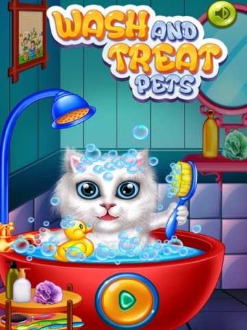 мыть и лечить домашних животных : помочь кошек и щенков ! на iPad